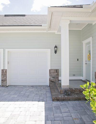 driveway entrance built by Walker Footings