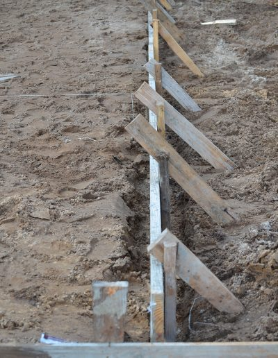 laying a concrete foundation