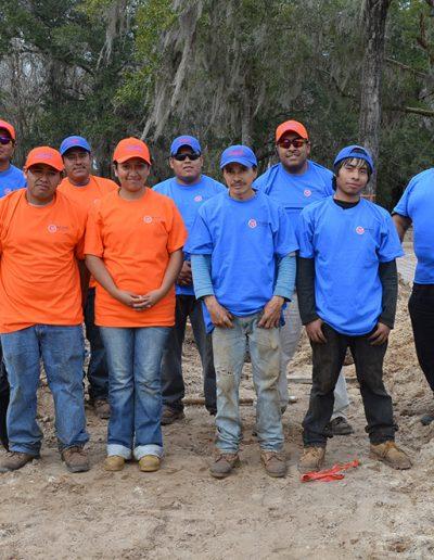 ten members of the Walker Footings team at a worksite