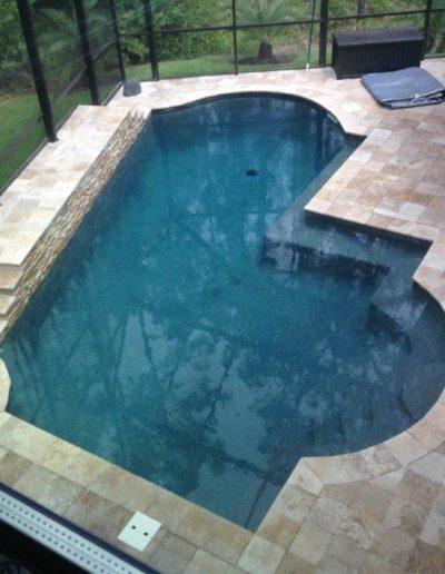unique pool deck created by Walker Footings